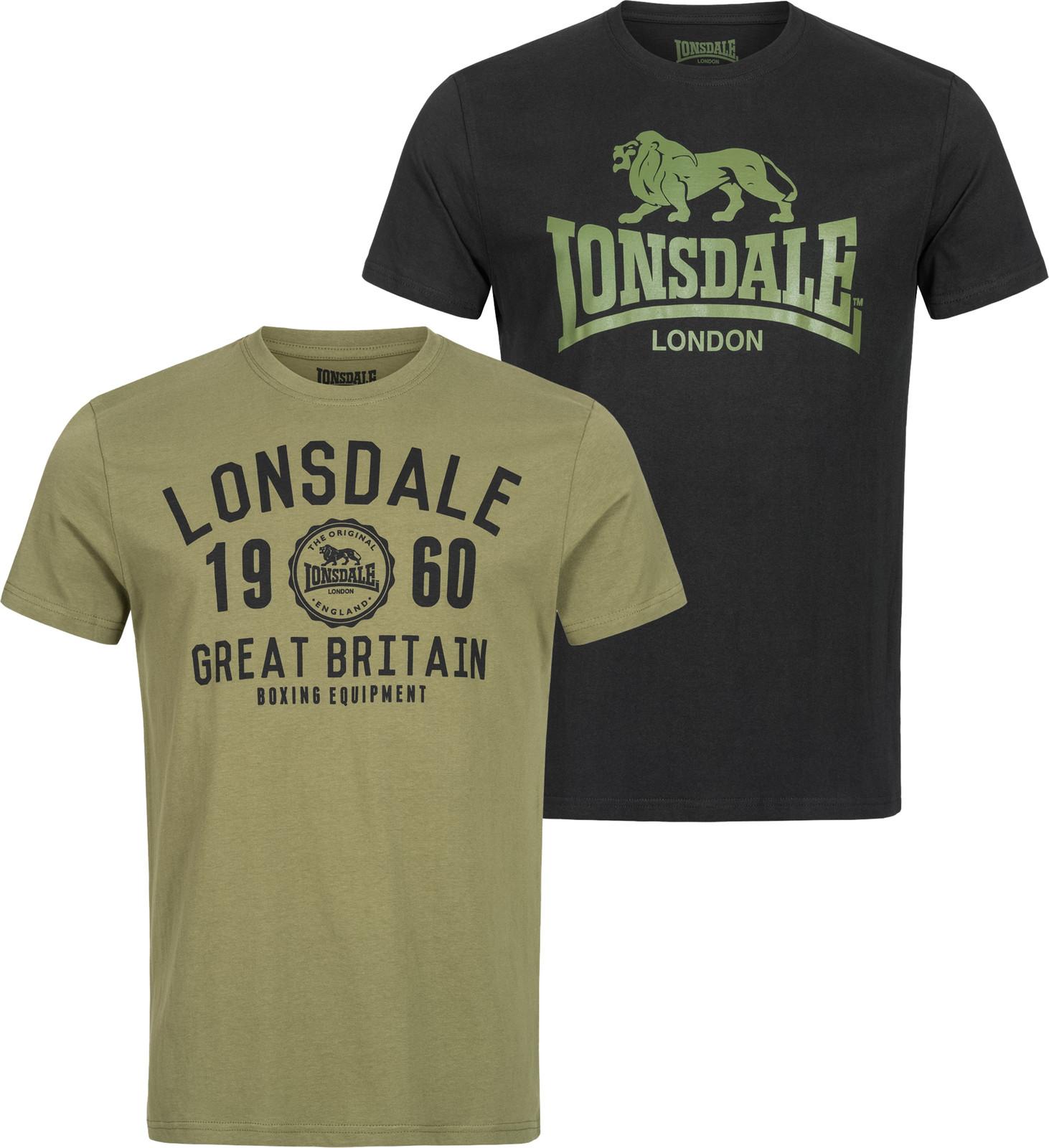 Lonsdale London Herren T-Shirt Bangor Doppelpack