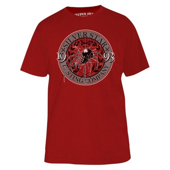 Silver Star Herren Signature T-Shirt Anderson Spider Silva 4 in Rot