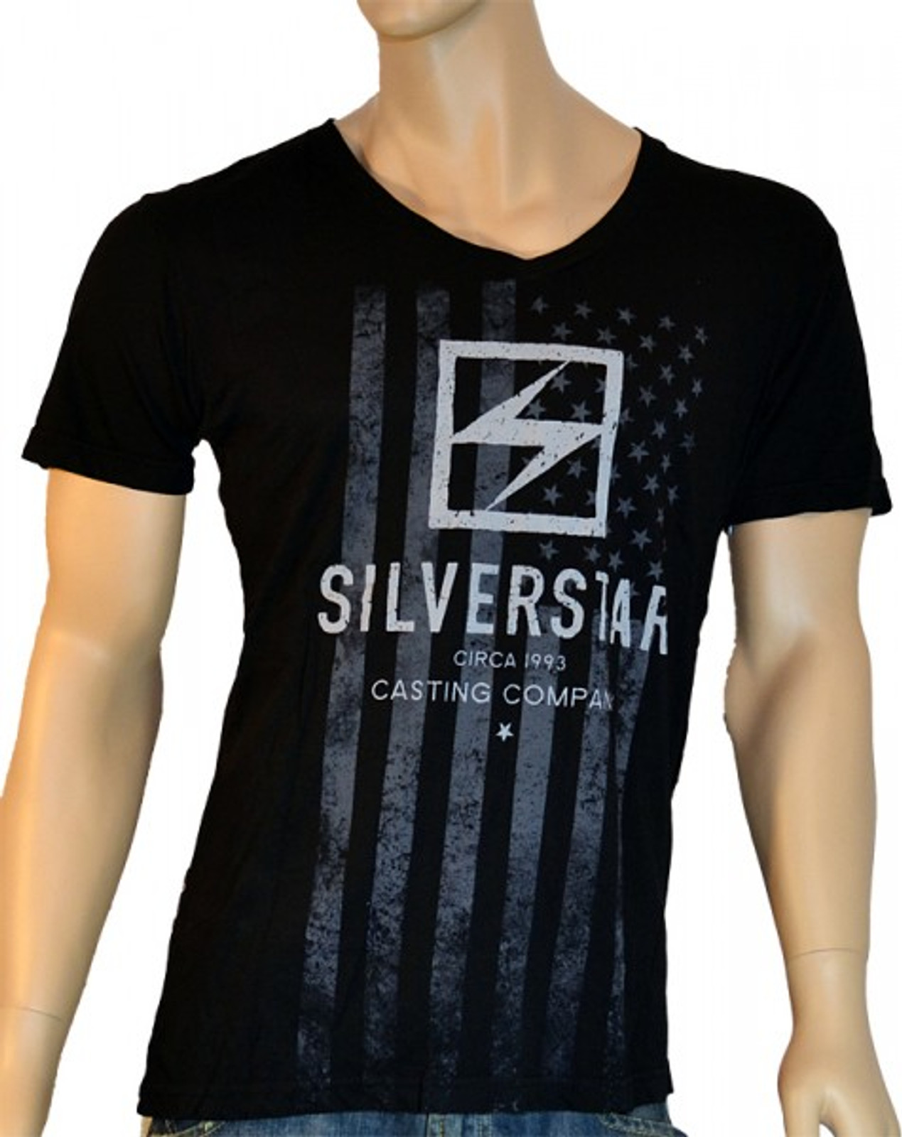 Silver Star Herren V-Neck T-Shirt No Brakes