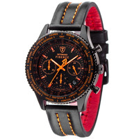 DETOMASO Chronograph FIRENZE BLACK BLACK ORANGE, SL1624C-BO Bild 2
