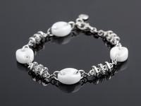 Yves Camani Armband Keramik weiss/Silber/Steine Bild 2