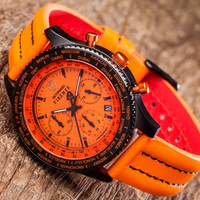 DETOMASO Chronograph FIRENZE BLACK ORANGE, SL1624C-OR Bild 5