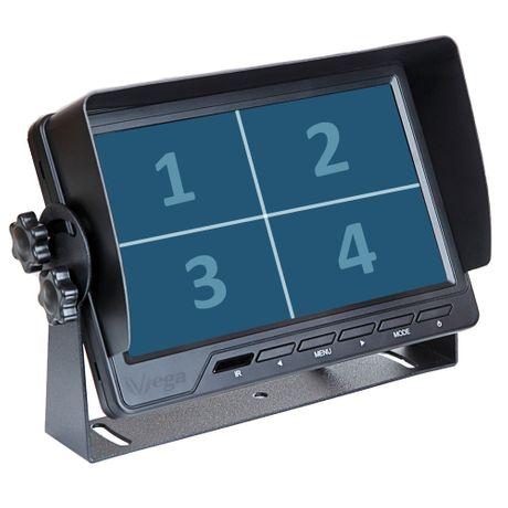 """7""""  MULTI-Screen X4 Rückfahrmonitor RM-13162"""