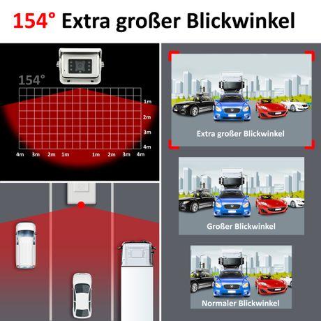 Premium-Rückfahrkamera 154° & Audio RV-23102