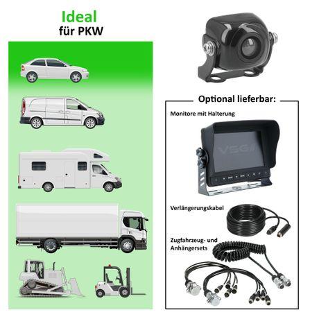 Mini-Rückfahrkamera 3x3cm PKW RV-MaXX