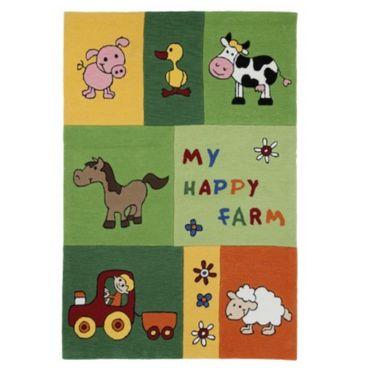 Wissenbach Kinderteppich Teppich Lifestyle Kids Happy Farm 3089 - grün