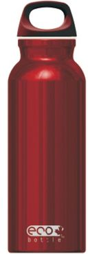 ECO Bottle Aluminium Trinkflasche red shiny 650ml