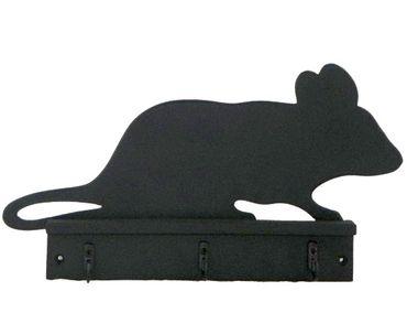 Schreibtafel - Kreidetafel mit 3 Haken - Maus ca 25x30cm