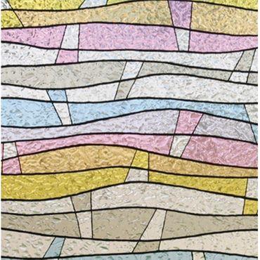 LINEA Fix Dekorfolie Buntglasfolie statische Fensterfolie GLS 4651 viele Größen