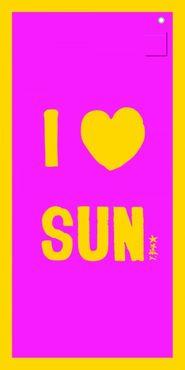 Strandtuch Mikrofaser - I Love Sun ca 180x90 cm