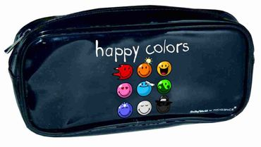 Federtasche Siftetasche Smiley Happy Colors - Schlamper bunt