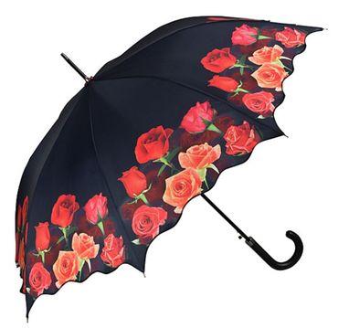Regenschirm - Stockschirm - Rosen - Rosenbouquet Schirm