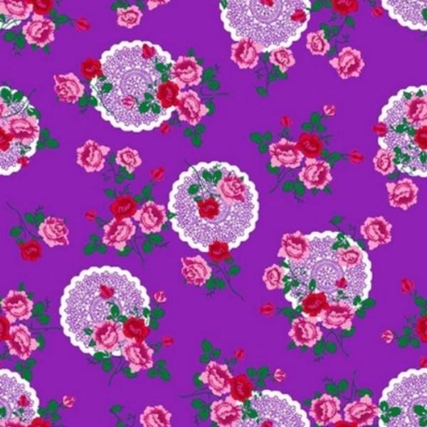 Klebefolie m belfolie blumen lila 45 cm x 200 cm for Rosa klebefolie