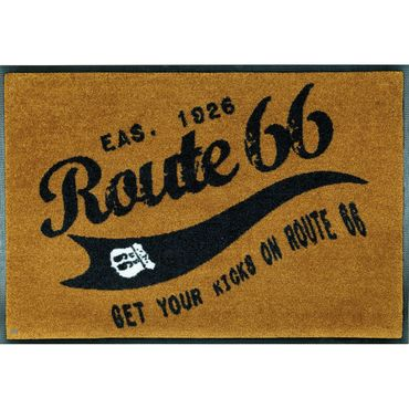 Waschbare Fußmatte Get your Kicks - Route 66 ca 50x75 cm Wash+Dry