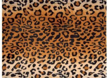 Tischset Platzmatte Animal Print Leopard orange - 2 teilig