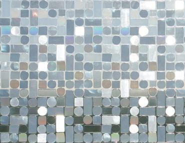 0,80 m x 0,46 m LINEA Fix Dekorfolie statische Fensterfolie Formas - Retro Design