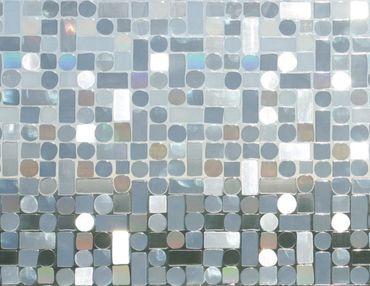 1,10 m x 0,46 m LINEA Fix Dekorfolie statische Fensterfolie Formas Retro Design
