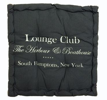 Lounge Club Stuhlkissen - Sitzkissen grau - ca 40 x 40 cm Matratzenkissen