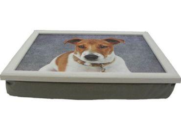 Knietablett - Lap Tray - Sofatablett Jack Russell Hund - lustiges Kissentablett