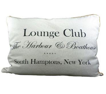 Kissen - Kuschelkissen Lounge Club weiss New York - ca 35 x 50 cm