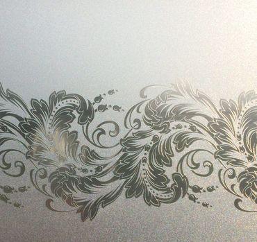 Statische Fensterfolie Ranken Barock Dekorfolie Scroll Vitro 0,45m x 1,50m