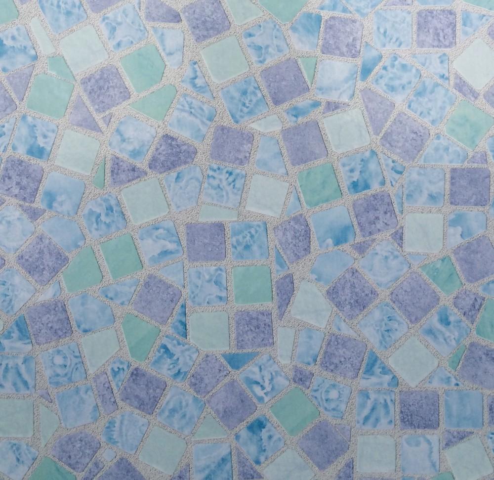 Klebefolie m belfolie mosaik blau dekorfolie 67 5 cm x for Mobelfolie muster