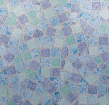 Klebefolie - Möbelfolie Mosaik blau Dekorfolie 67.5 cm x 200 cm Bastelfolie