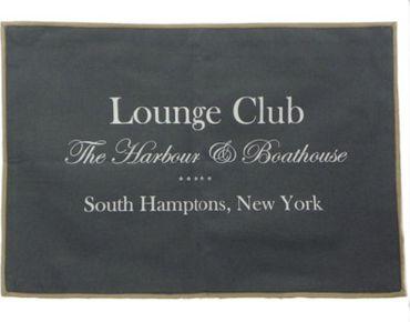 Tischset Platzmatte Lounge Club South Hamptons New York grau - 2 teilig