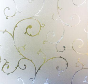 Dekorfolie statische Fensterfolie Ranken Orna Meterware 90 cm hoch