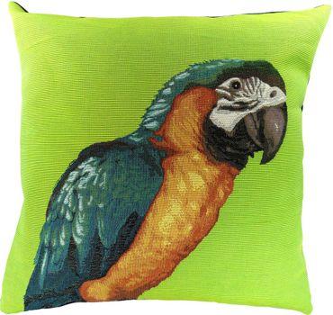 Kissenbezug Gobelin - Papagei ARA grün - ca 50 x 50 cm ohne Füllung