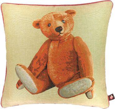 Gobelin Kissenbezug - Bär Bärchen beige - ca 50 x 50 cm ohne Füllung