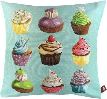 Kissenbezug Gobelin - Cupcakes - ca 50 x 50 cm ohne Füllung