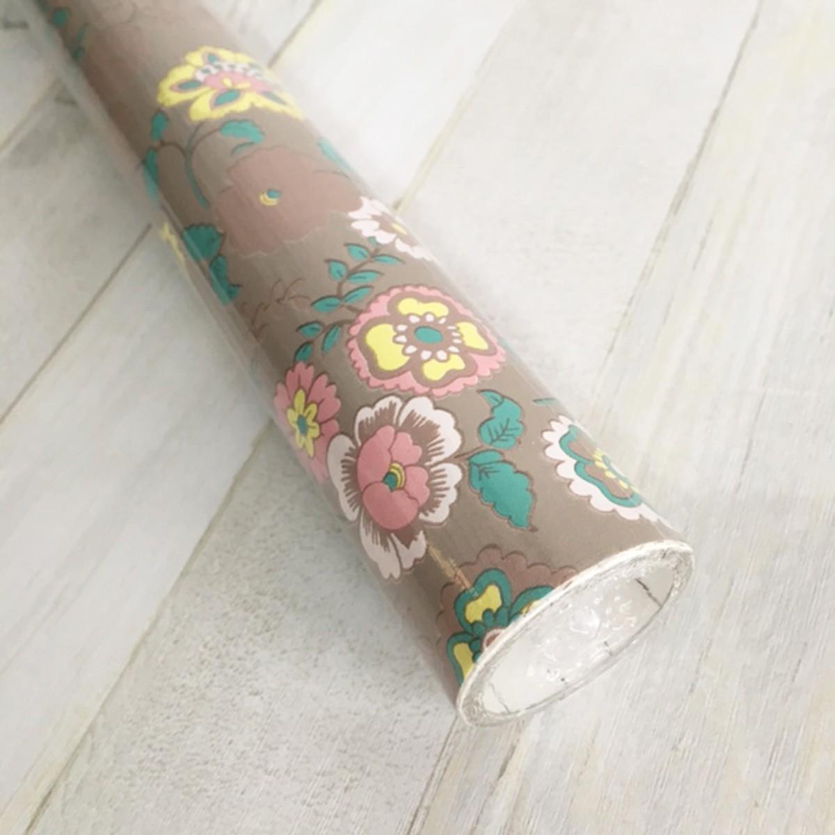 Klebefolie m belfolie fleur beige blumen 45 cm x 200 cm for Selbstklebende dekorfolie