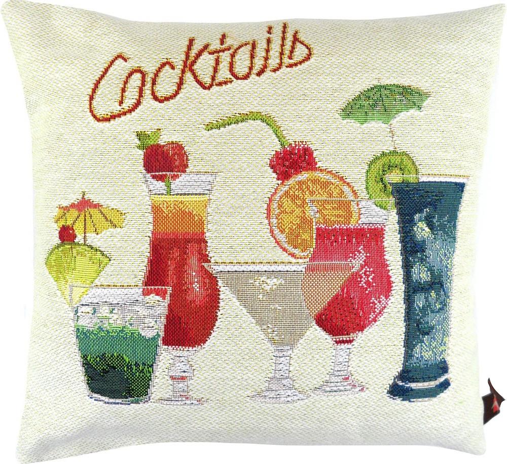gobelin kissenbezug kissenh lle cocktails ca 50 x 50 cm heimtextilien kissen kissenbezug. Black Bedroom Furniture Sets. Home Design Ideas