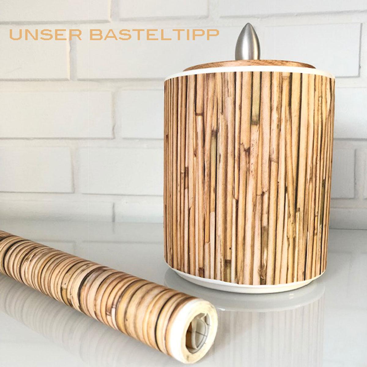 Klebefolie selbstklebende m belfolie bambus dekorfolie for Klebefolie dekorfolie