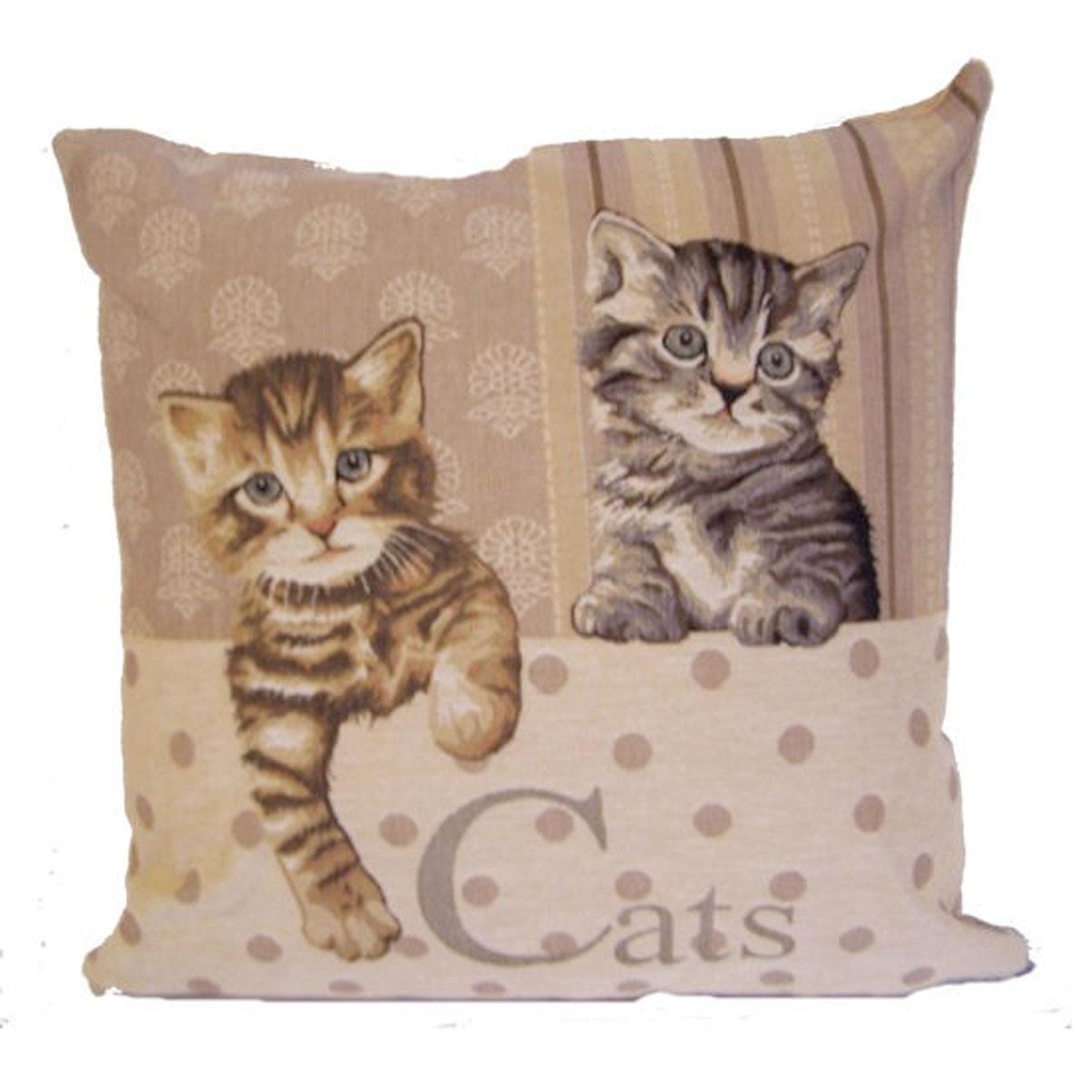 kissen katzen cats ca 45x45 cm landhaus zierkissen sofakissen heimtextilien kissen zierkissen. Black Bedroom Furniture Sets. Home Design Ideas