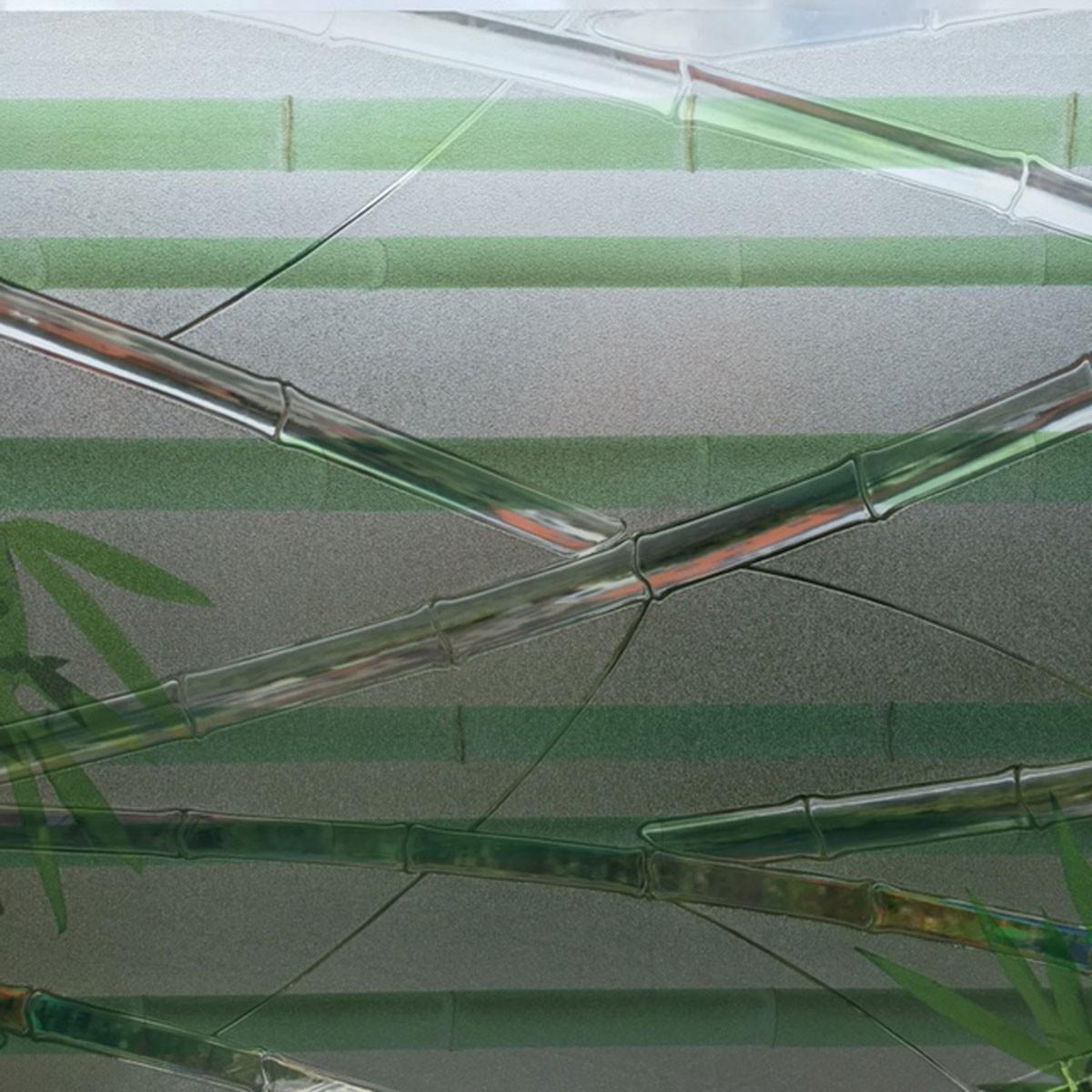 linea fix dekorfolie statische fensterfolie bambus viele gr en glasdekorfolie ebay. Black Bedroom Furniture Sets. Home Design Ideas