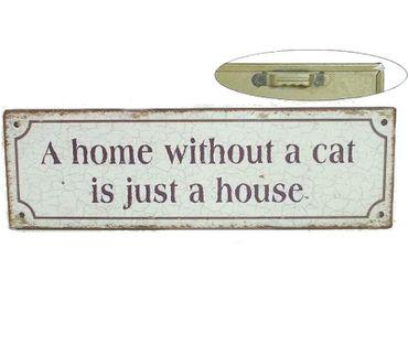Blechschild - CAT - Schild im Antik Look - Metallschild Nostalgieschild