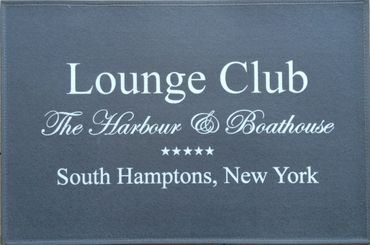 Waschbare Fußmatte - Lounge Club South Hamptons NY ca 50x75 cm