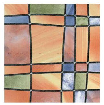 Fensterfolie Barcelona Adhesive - Klebefilm Bleiglas Look 0,45 m x 2 m bunt