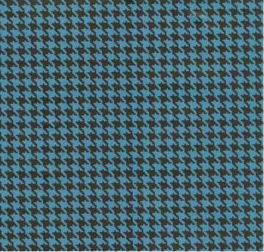 Klebefolie - Möbelfolie Hahnentritt Muster blau - 45 cm x 200 cm