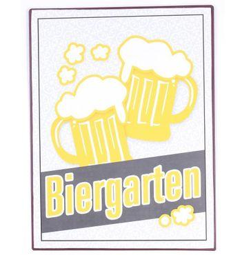 Vintage Blechschild - Biergarten Wandschschild Metall