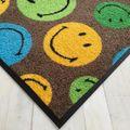 Waschbare Fußmatte Smiley - Mixed Smileys grün - ca 50 x 75 cm Wash+Dry – Bild 2