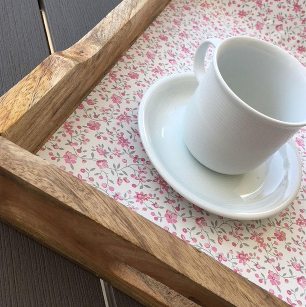 Klebefolie m belfolie rosa bl mchen biedermeier look 67 cm for Selbstklebende dekorfolie