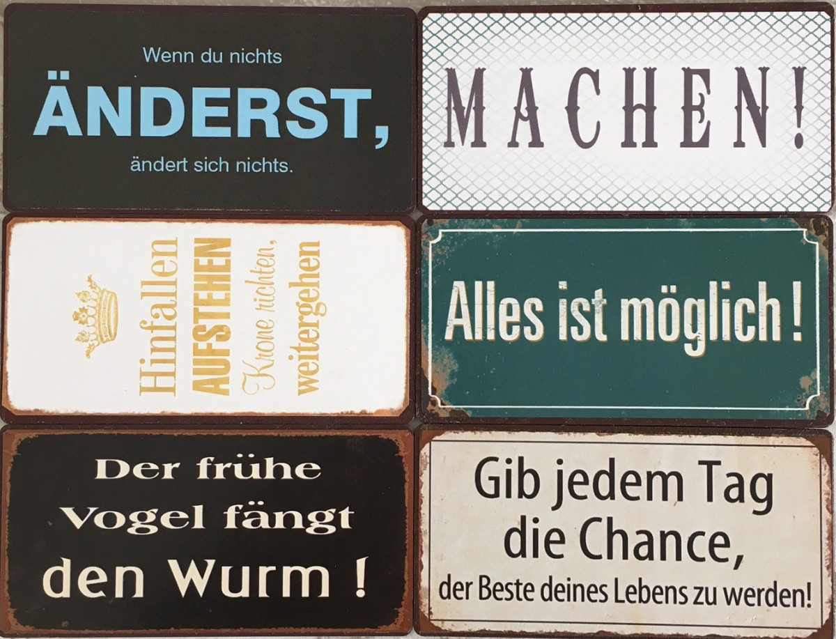 sprüche magnete 6 Kühlschrankmagnete Set Motivation Sprüche Magim Shabby Style  sprüche magnete