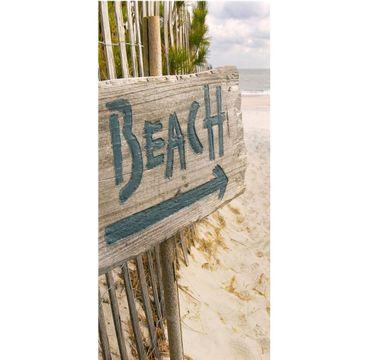 Textilposter Beach - Strand XXL Banner Poster aus Stoff ca 90 x 180 cm