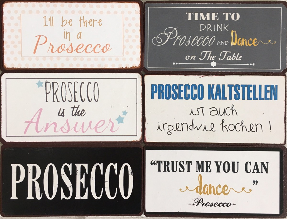 Kühlschrankmagnete Set : Kühlschrankmagnete set prossecco sprüche magnet im shabby style