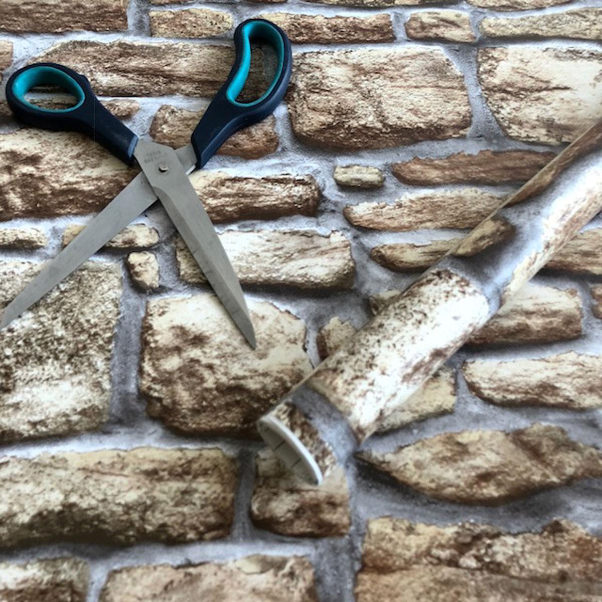 Klebefolie m belfolie design naturstein mauer 90 cm x for Selbstklebende mobelfolie