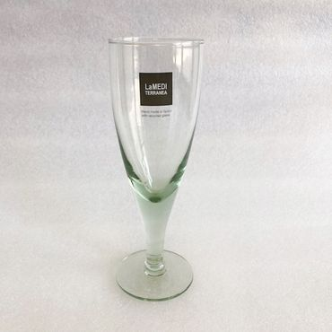 6x Wasserkelch Oteiva Weinglas - La Mediterranea - Recyclingglas Sektkelch