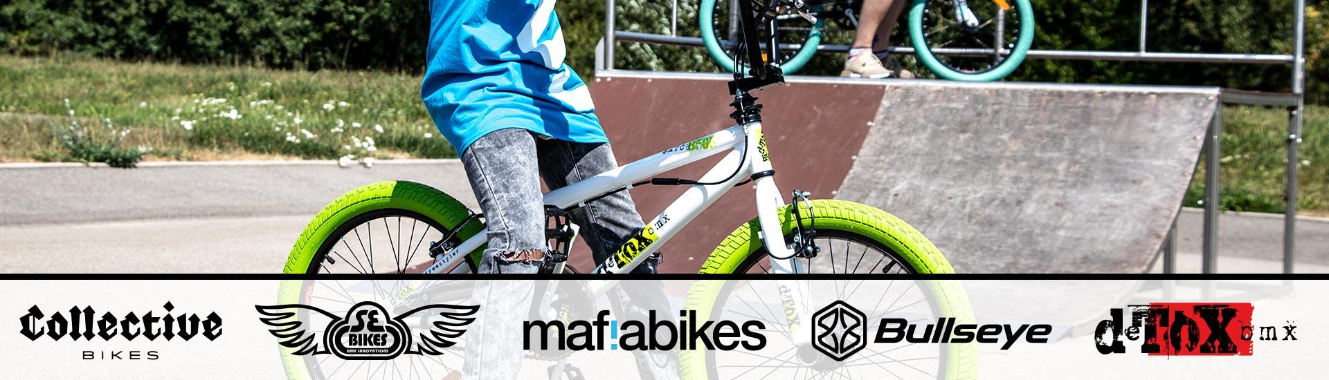 Große BMX Auswahl - Markenvielfalt mafiabikes - Collective Bikes - deTox - SE Bikes